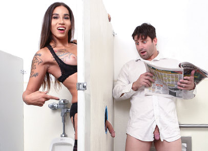 Tranny Glory Hole Surprise #03